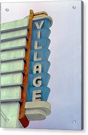Acrylic Print featuring the photograph Art Deco Village by Matthew Bamberg
