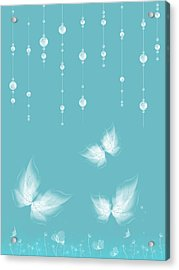 Art En Blanc - S11a Acrylic Print by Variance Collections
