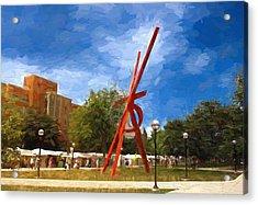Art Fair Painting Acrylic Print