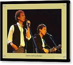 Art Garfunkel And Paul Simon Poster Art Acrylic Print