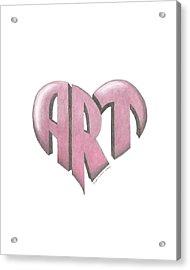 Art Heart Acrylic Print