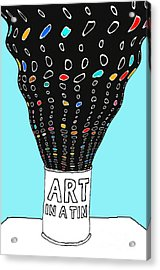 Art In A Tin Acrylic Print by Andy  Mercer