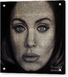 Art In The News 72-adele 25 Acrylic Print by Michael Cross