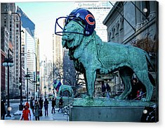 Art Institute Of Chicago Lions Acrylic Print
