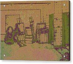 Art Intro Mixed Media Acrylic Print by Hye Ja Billie