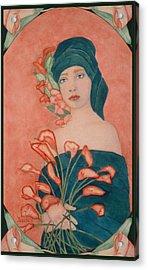 Art Nouveau Calas Acrylic Print