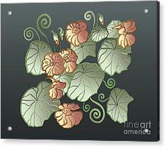 Art Nouveau Garden Acrylic Print