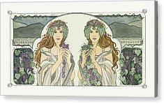 Art Nouveau Pinot Noir Vineyard Acrylic Print