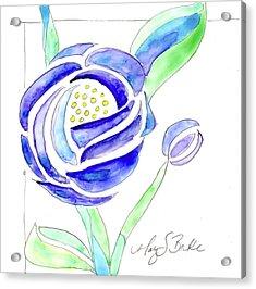 Art Nouveau Roses II Acrylic Print