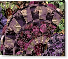 Art Nouveau Stained Glass Fan Acrylic Print by Mindy Sommers