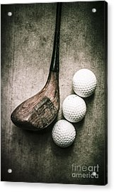 Art Of Golfing Acrylic Print
