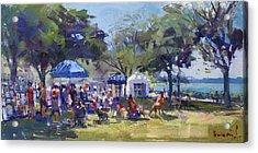 Art On The Riverwalk At Niawanda Park Acrylic Print