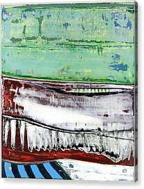 Acrylic Print featuring the painting Art Print Abstract 97 by Harry Gruenert