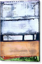 Acrylic Print featuring the painting Art Print Abstract 95 by Harry Gruenert