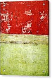 Acrylic Print featuring the painting Art Print Rotgelb by Harry Gruenert