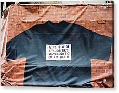 Art Shirt Acrylic Print