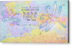 Acrylic Print featuring the painting Art Washes The Soul by Kerri Farley
