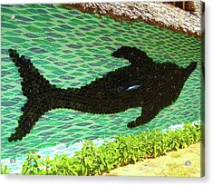 Art With Recycling - Dolphin From Bottles 1 Acrylic Print