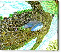Art With Recycling - Dolphin From Bottles 2 Acrylic Print