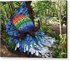 Art With Recycling - Turtle Acrylic Print by Exploramum Exploramum