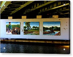Art Work On The Erie Canal Acrylic Print by Richard Jenkins