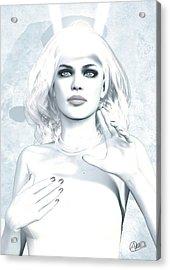 Artemis Diana Blue Acrylic Print by Quim Abella