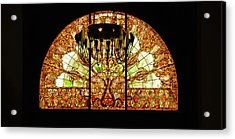 Artful Stained Glass Window Union Station Hotel Nashville Acrylic Print by Susanne Van Hulst