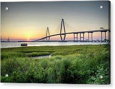 Arthur Ravenel Bridge Sunset Acrylic Print