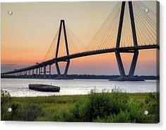 Arthur Ravenel Jr. Bridge Sunset Acrylic Print