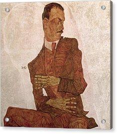 Arthur Roessler Acrylic Print by Egon Schiele