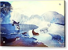 Artic Morning Acrylic Print by Methune Hively