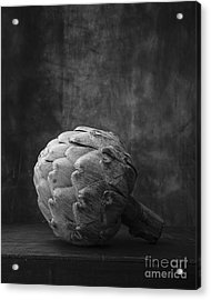 Artichoke Black And White Still Life Acrylic Print