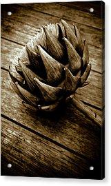 Acrylic Print featuring the photograph Artichoke Flower Still Life by Frank Tschakert