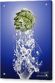 Artichoke Splash Acrylic Print by Marvin Blaine