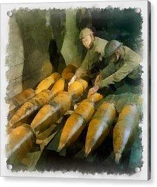 Artillery Men Wwii Acrylic Print