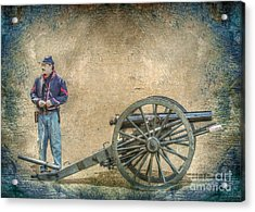 Artilleryman With Cannon Acrylic Print