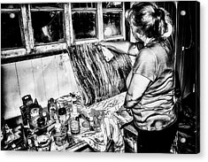Artist At Work Acrylic Print