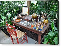 Frida Kahlo's Desk And Chair Acrylic Print