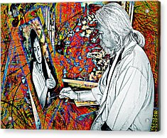 Artist In Abstract Acrylic Print by Ian Gledhill