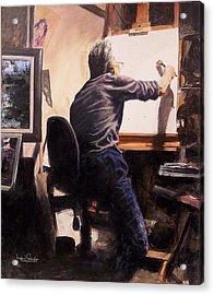Artist In His Studio Acrylic Print