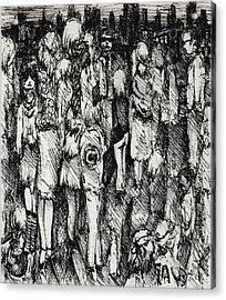 Artist In The City Acrylic Print by Rachel Christine Nowicki