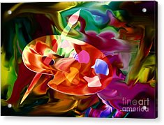 Artist Palette In Neon Colors Acrylic Print