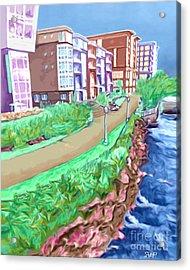 Artist Row Acrylic Print by Rachelle Petersen