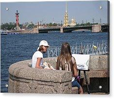 Acrylic Print featuring the photograph Artist  by Yury Bashkin