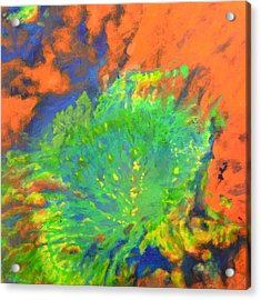 Artistarchus Crater On Moon In Reverse Color Acrylic Print by Jim Ellis