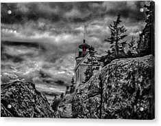 Artistic Bass Harbor Lighthouse In Acadia Acrylic Print by Jeff Folger
