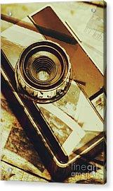 Artistic Double Exposure Of A Vintage Photo Tour Acrylic Print