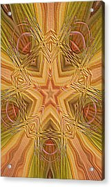 Artistic Star Of Texas Acrylic Print by Linda Phelps