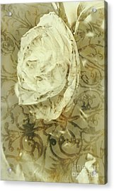 Artistic Vintage Floral Art With Double Overlay Acrylic Print by Jorgo Photography - Wall Art Gallery