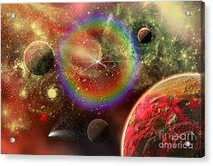Artists Concept Illustrating The Cosmic Acrylic Print by Mark Stevenson